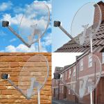 przezroczysta antena satelitarna